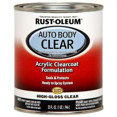 1 qt. High-Gloss Clear Auto Body Acrylic Clearcoat Paint (2-Pack)
