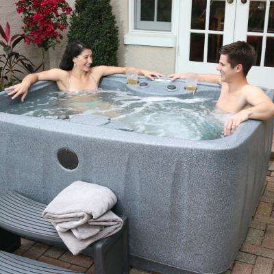 Select 150 4 Person Plug And Play Hot Tub With 12 Stainless Jets Led