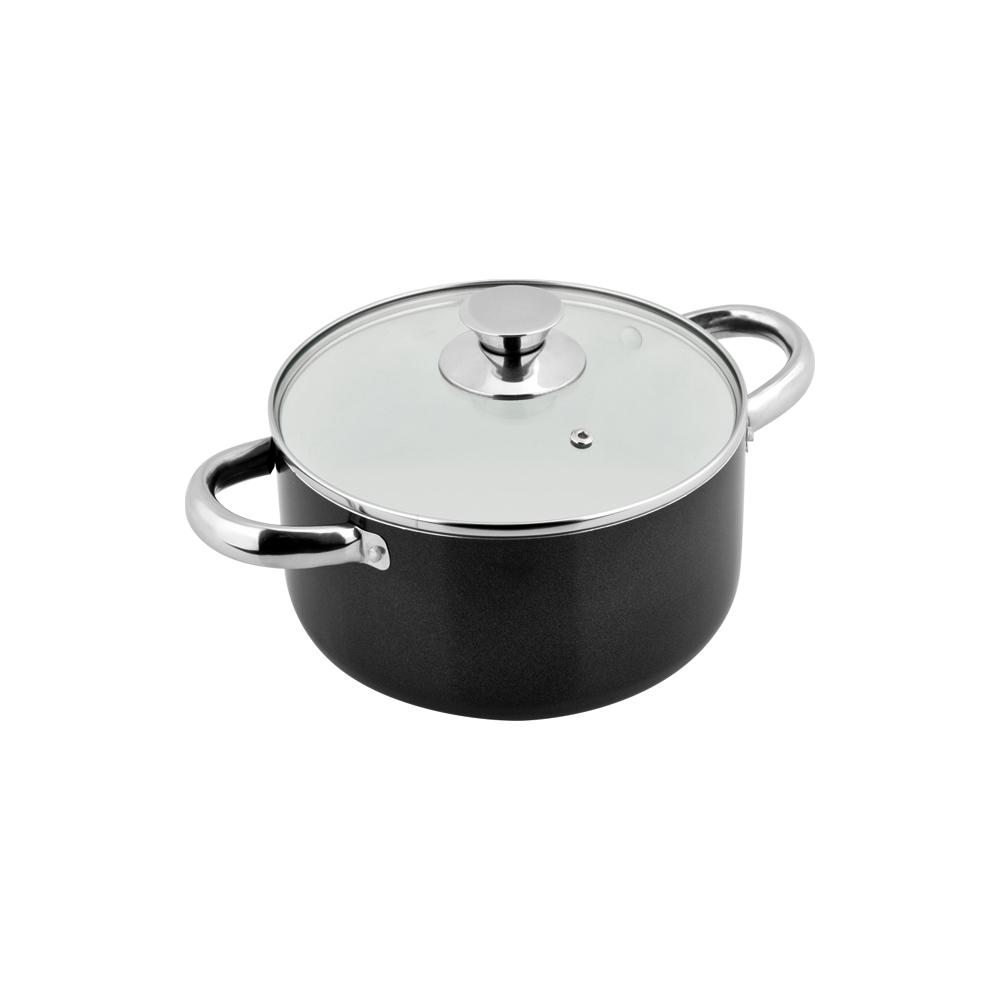 Solaris Pro Ceramic 1.6 Qt. Non-Stick Stock Pot with Glass Lid