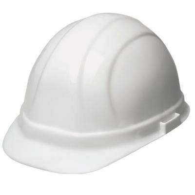 Omega II 6 Point Suspension Nylon Mega Ratchet Cap Hard Hat in White
