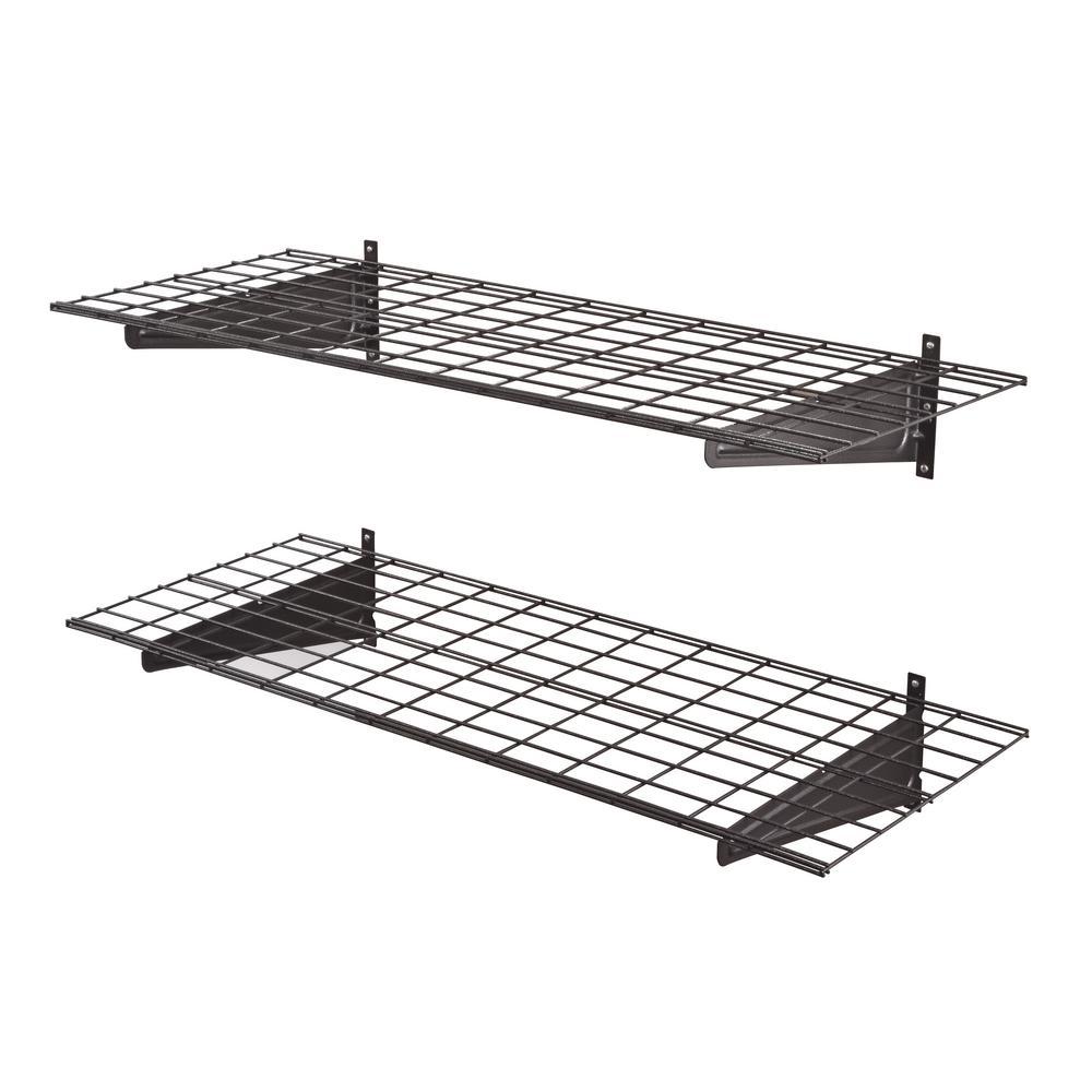 Muscle Rack 2-Shelf 48 in. W Wire Garage Wall Storage System in ...