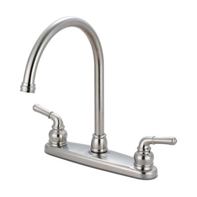 Accent 2-Handle Standard Kitchen Faucet in Brushed Nickel