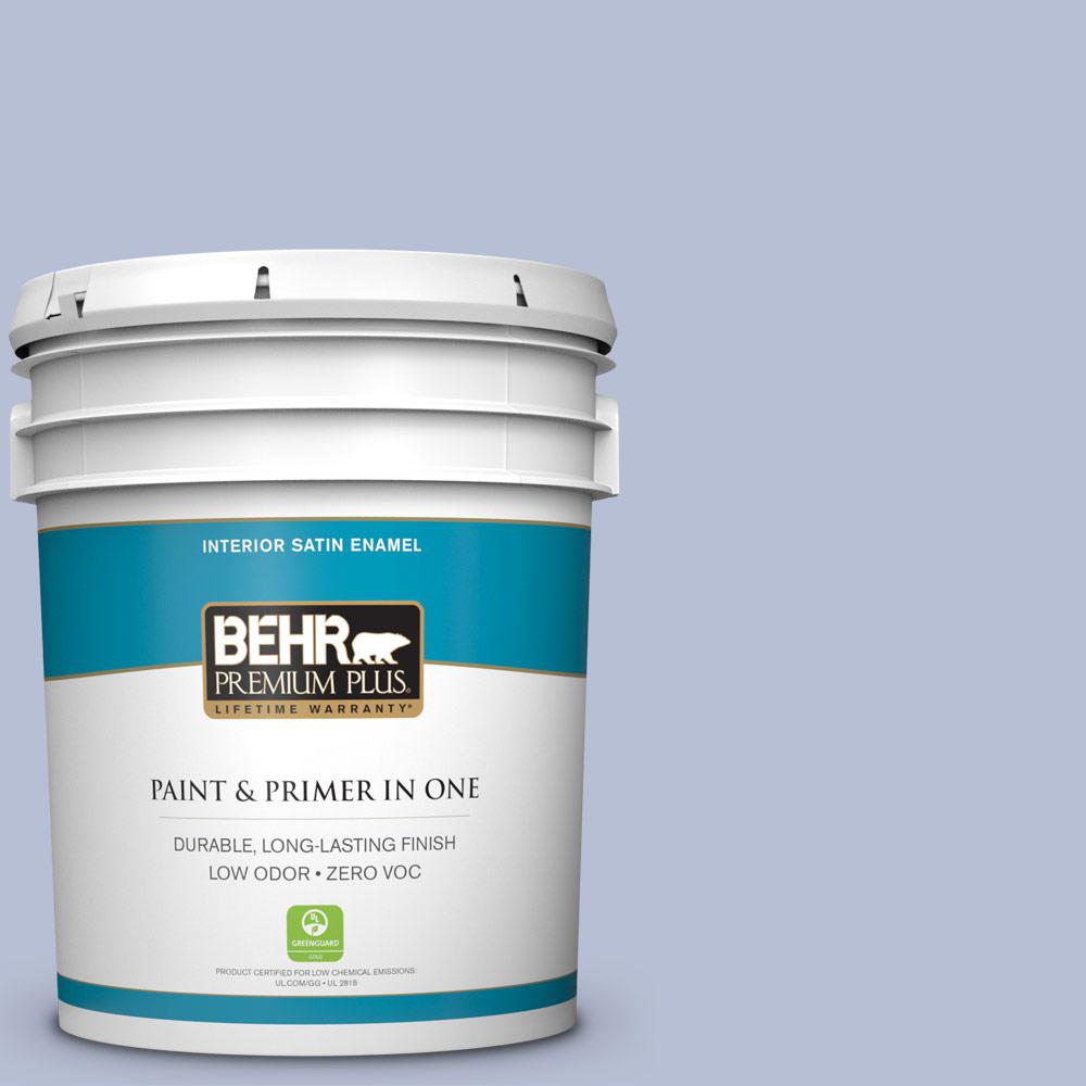 5 gal. #PPU15-15 Sweet Juliet Zero VOC Satin Enamel Interior Paint