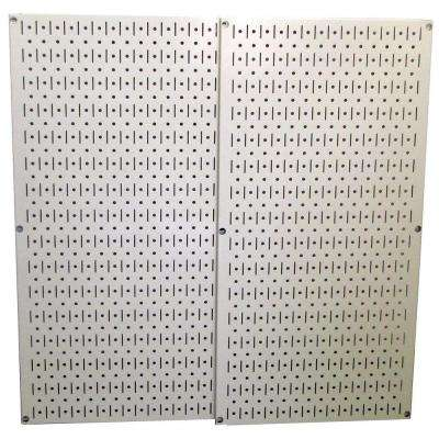 32 in. x 32 in. Beige Metal Pegboard Pack with 2 Pegboard Tool Boards