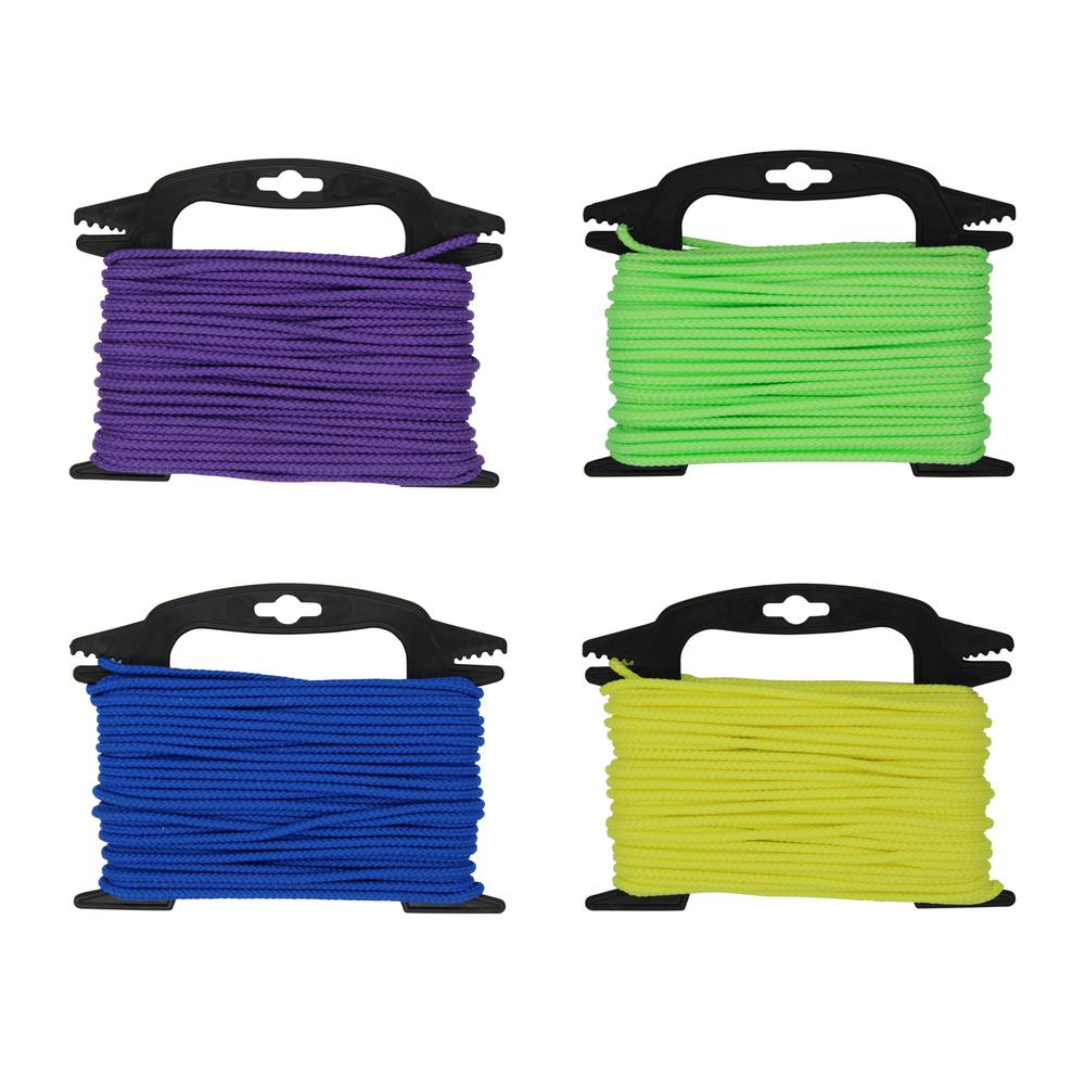 5/32 in. x 75 ft. Neon Assorted Color Braided Polypropylene Rope