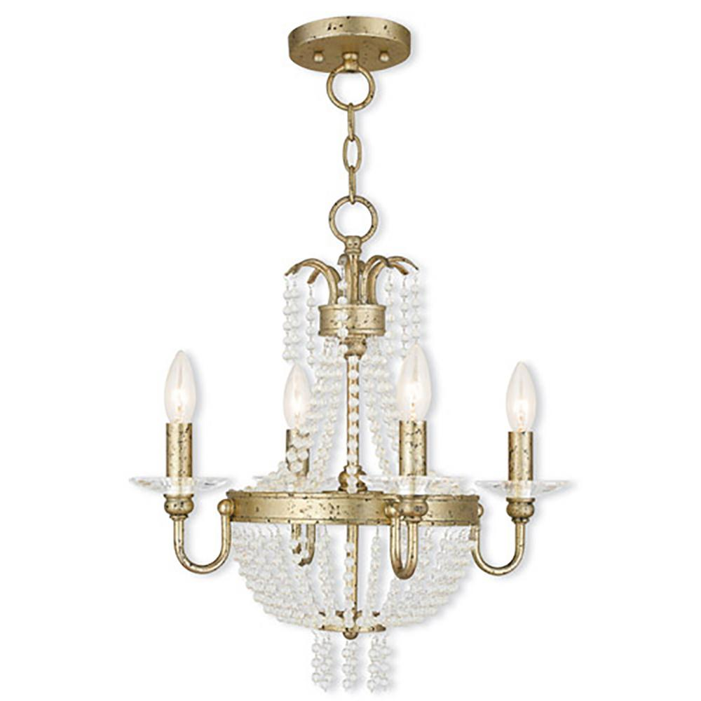 Livex Lighting Valentina 4-Light Winter Gold Mini Chandelier