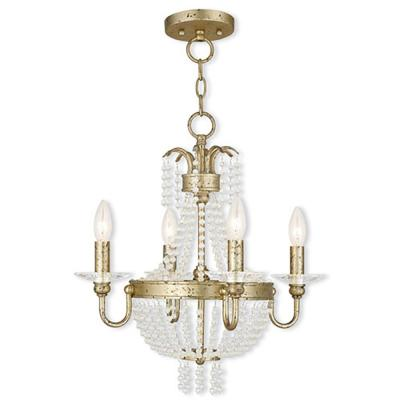 Valentina 4-Light Winter Gold Mini Chandelier