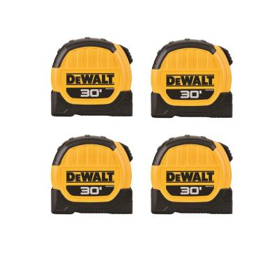 30 ft. x 1-1/8 in. Tape Measure (4-Pack)