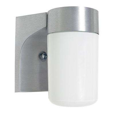 1-Light Satin Aluminum Outdoor Lantern