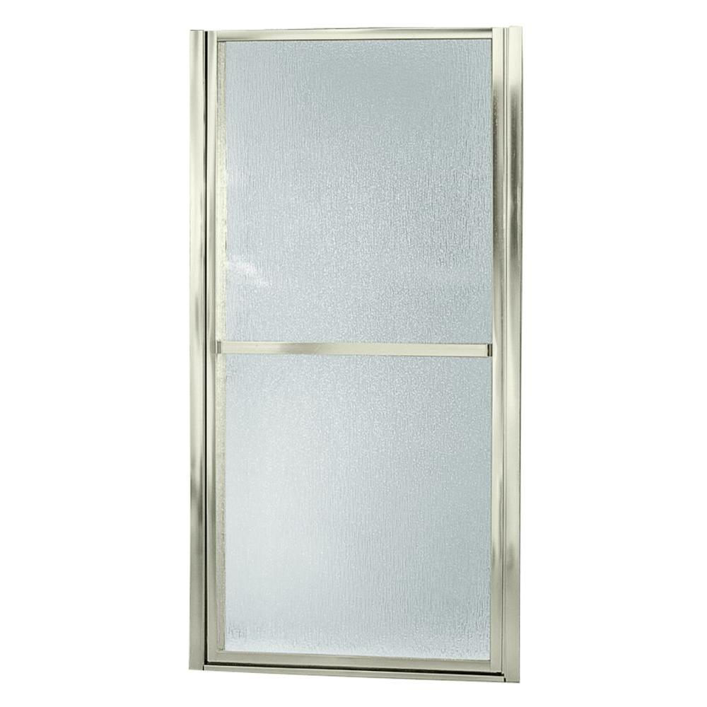 STERLING Finesse 30-1/2 in. x 65-1/2 in. Framed Pivot Shower Door in Nickel with Handle