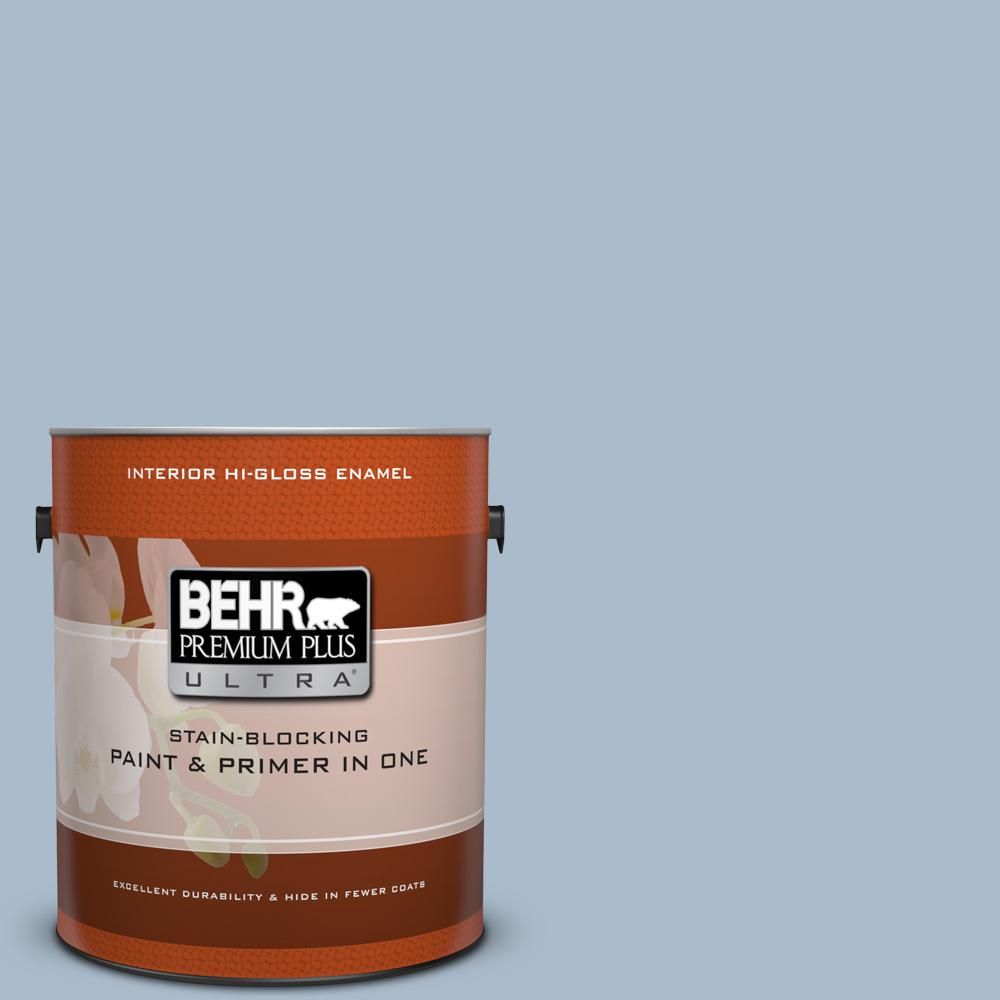 Behr Premium Plus Ultra 1 Gal M490 Breezy Blue Semi Gloss Enamel Charger With Electrical Outlet Blacktr7740bkbox The Home Depot Ppu15 16 Simply Hi Interior Paint And