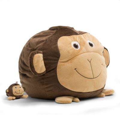 Maya the Monkey Cozy Brown Plush Bean Bag