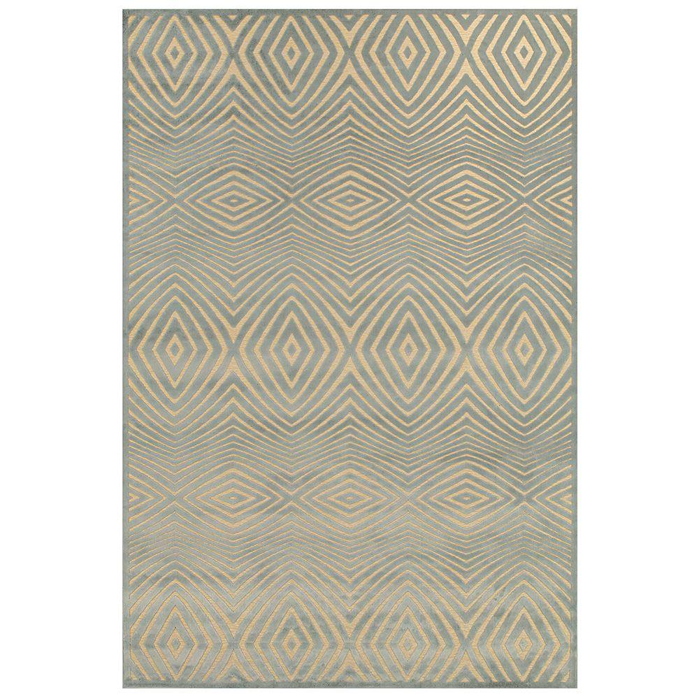 Feizy Saphir Callo Cream/Silver 2 ft. 2 in. x 4 ft. Indoor Accent Rug