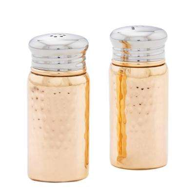 Hammered 3 in. H Copper Salt and Pepper Shaker Set with Round Top