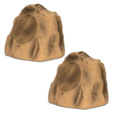 Sandstone 8 in. Rock Speaker Pair Outdoor Weatherproof Speakers