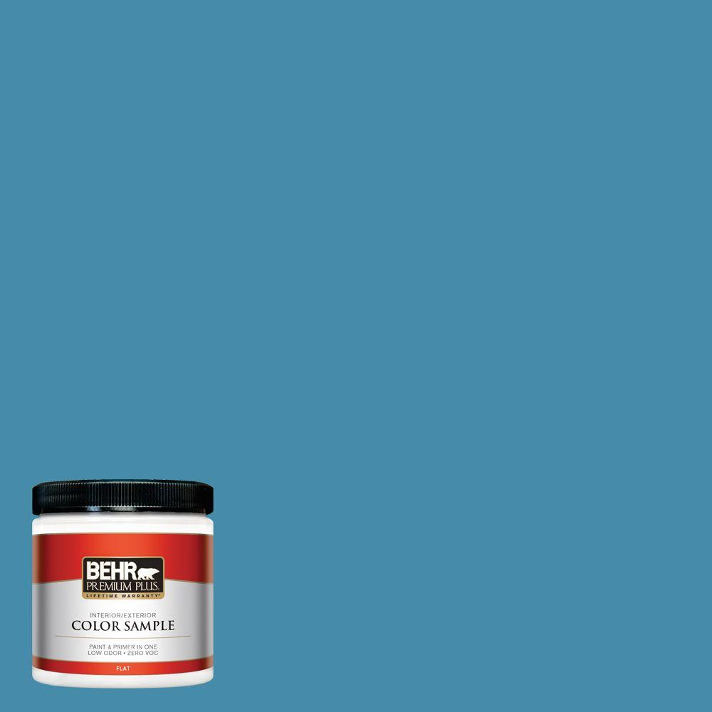 8 oz. #550D-6 Blue Chaise Interior/Exterior Paint Sample