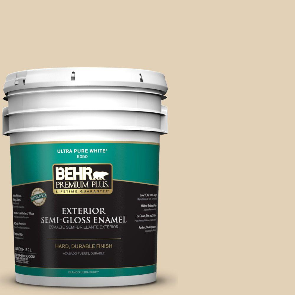 5-gal. #N290-3 Comfy Beige Semi-Gloss Enamel Exterior Paint