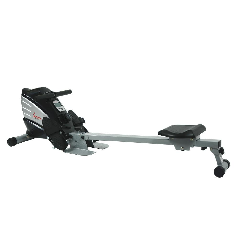 680dfbe8063 Sunny Health   Fitness Dual Function Magnetic Rowing Machine-SF ...