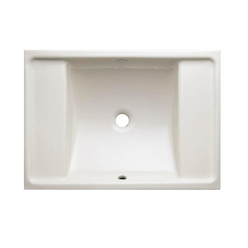 Kohler ledges under mount cast iron bathroom sink in biscuit with overflow drain k 2838 96 the Kohler cast iron bathroom sink