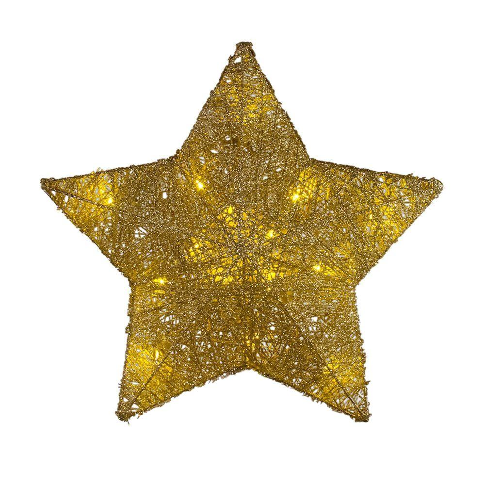 Home Accents Holiday 125 In Battery Operated Star Gold