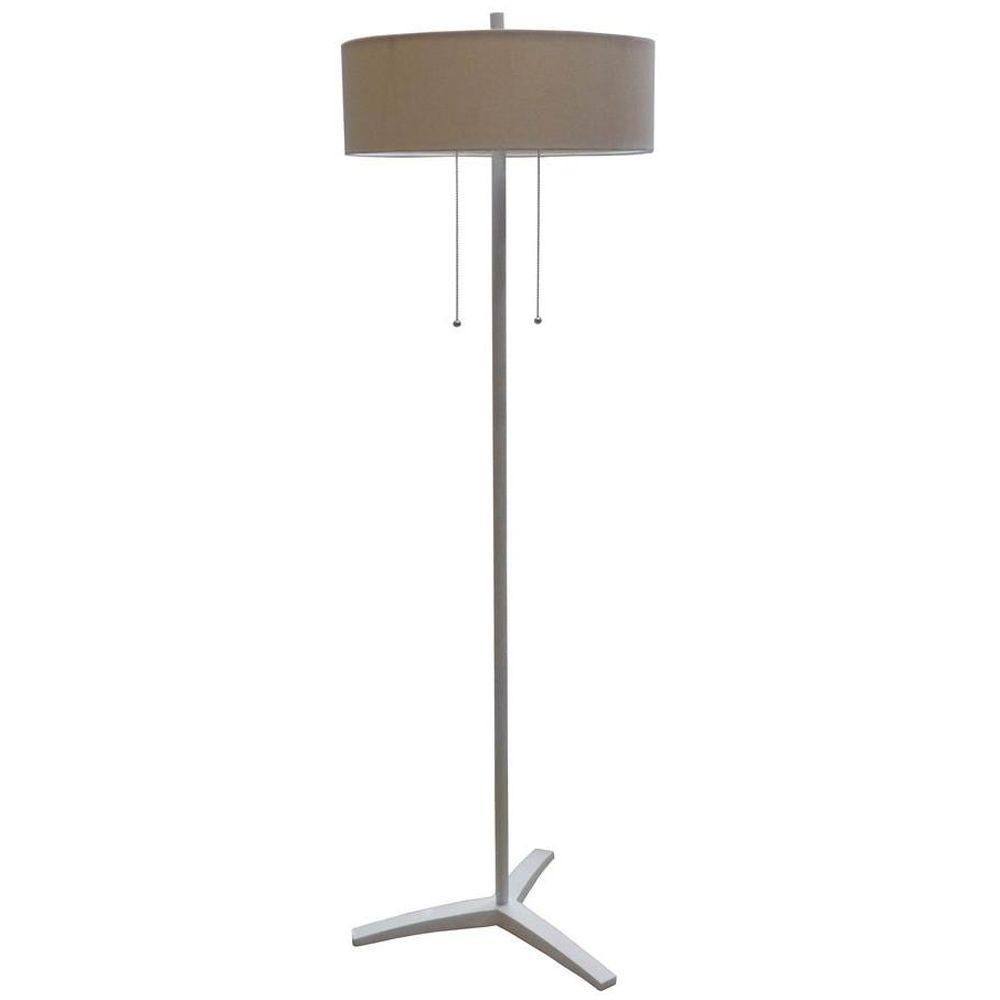 Fangio Lighting #1362 58 in. White Poly and Metal Floor Lamp-DISCONTINUED