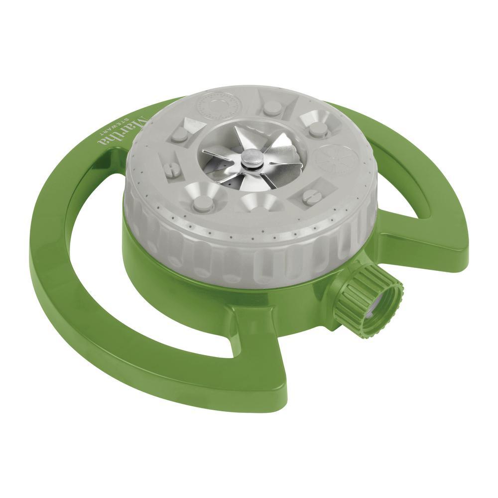 1022 sq. ft. 360-Degree Swivel 9-Pattern Turret Sprinkler