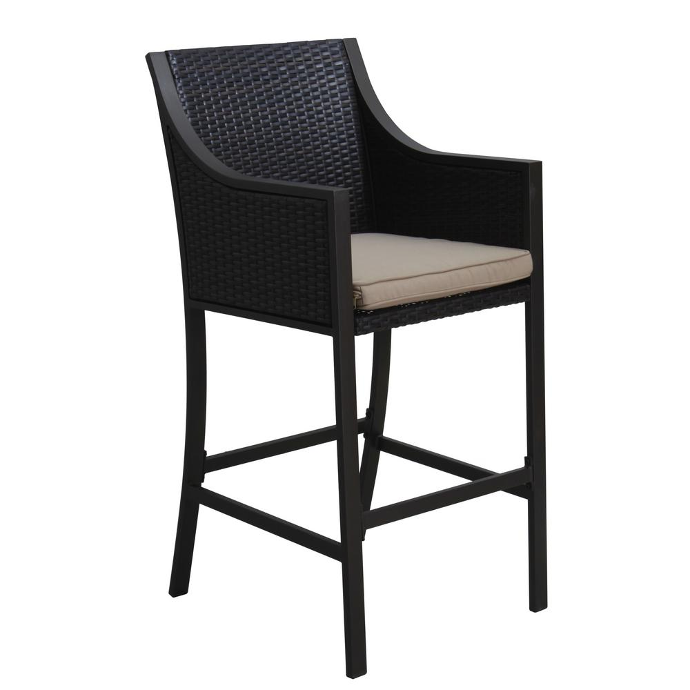 Le House Debbie Wicker Outdoor Bar Stool 2 Pack