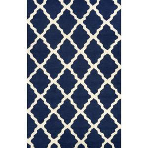nuLOOM Trellis Navy Blue 2 ft. x 3 ft. Accent Rug by nuLOOM