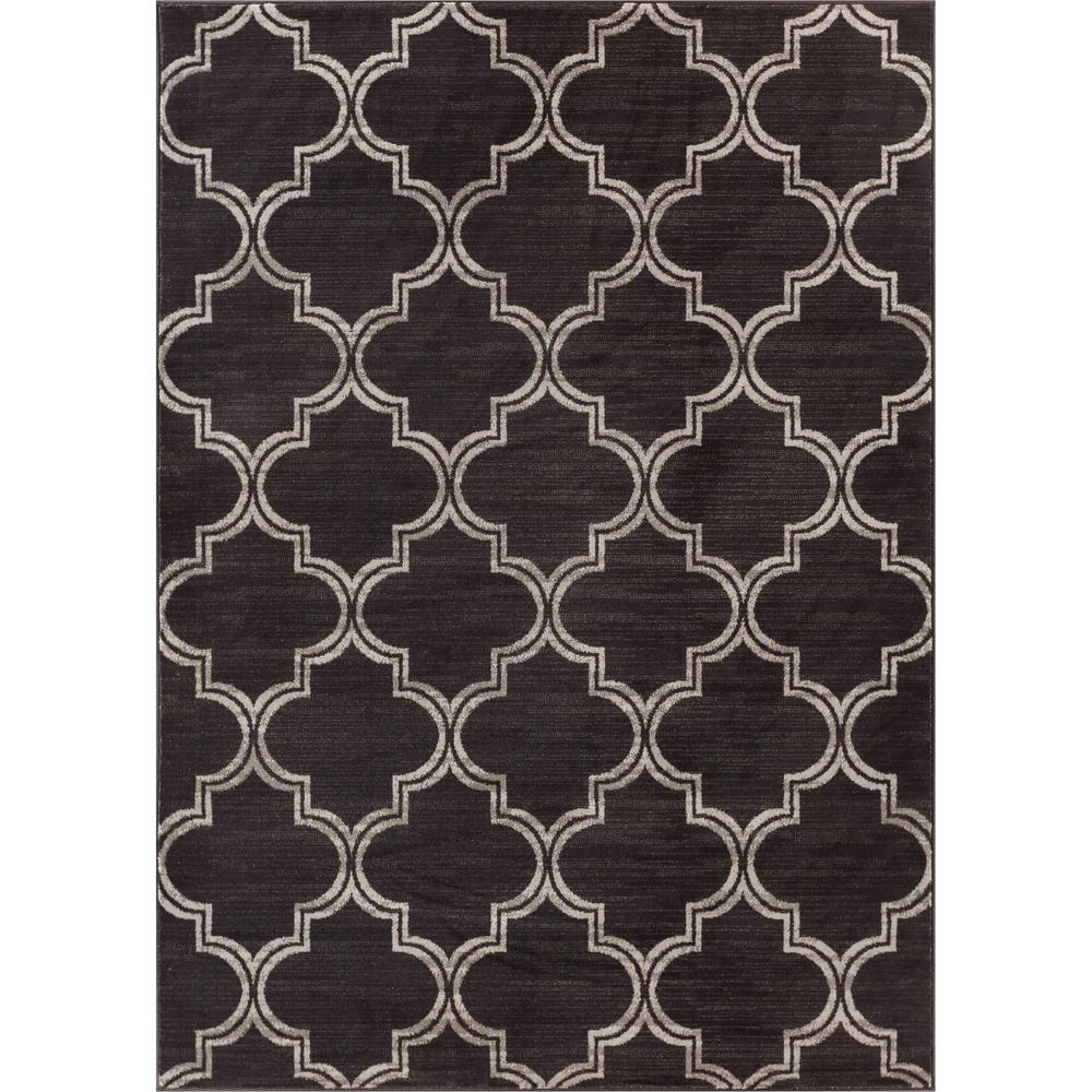 Well Woven New Age Jaclyn Charcoal 8 Ft X 10 Modern Moroccan Trellis