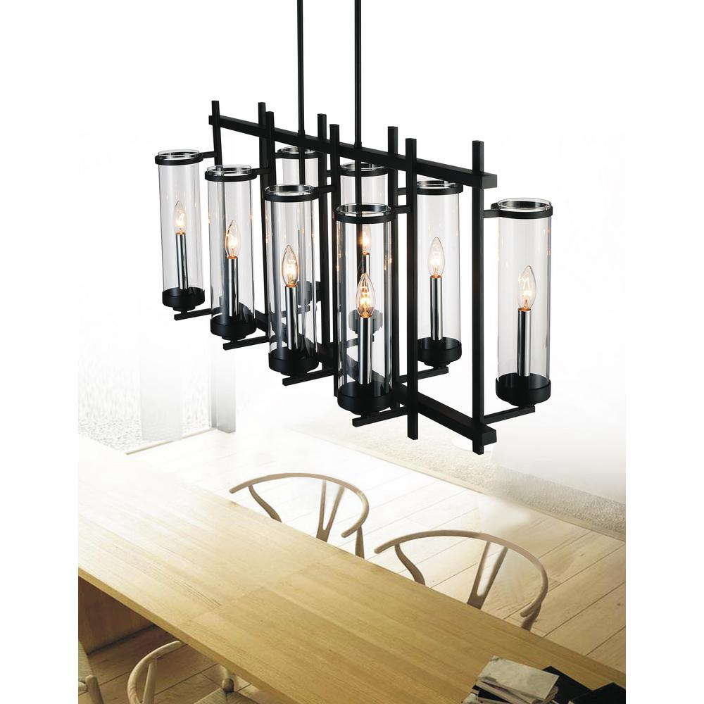 CWI Lighting Sierra 8-Light Black Chandelier