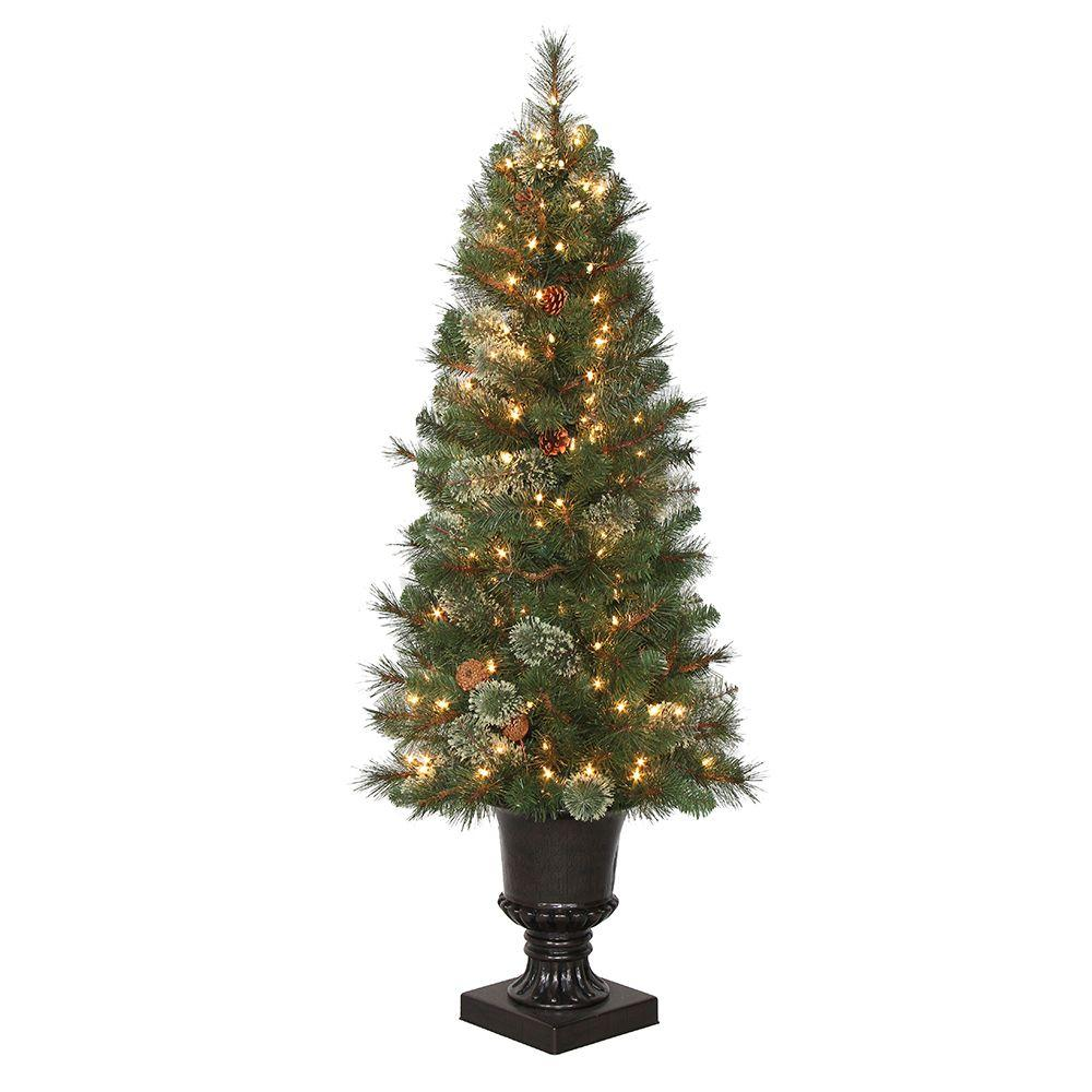 4 5 ft pre lit led alexander pine artificial christmas Outdoor christmas tree photos