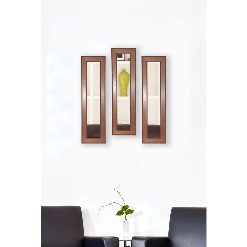 14.5 in. x 38.5 in. Western Rope Vanity Mirror (Set of 3-Panels ...