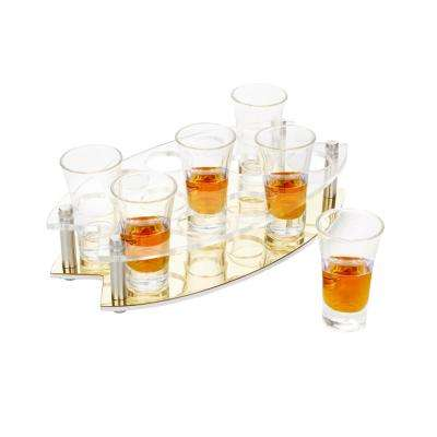 Clear Acrylic 13-Oval Shot Glass Tray Display for Barware