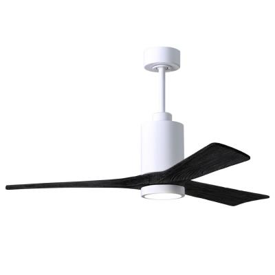 Patricia-3 52 in. Integrated LED Gloss White Ceiling Fan with Light Kit