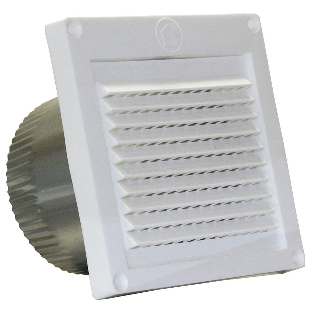 Speedi Products 4 In White Micro Louver Eave Vent Ex Evml 04 The Home Depot