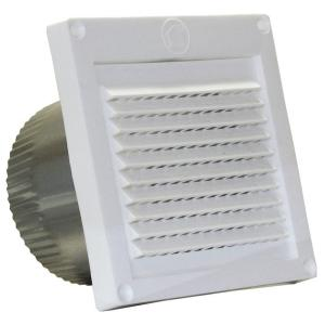 Speedi Products 4 In White Micro Louver Eave Vent Ex Evml