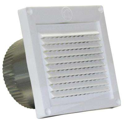 4 in. White Micro Louver Eave Vent