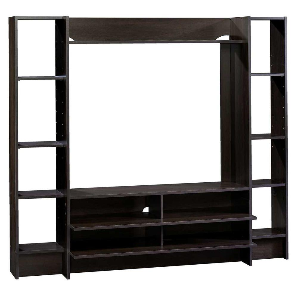 Sauder Beginnings Cinnamon Cherry Shelved Entertainment Center