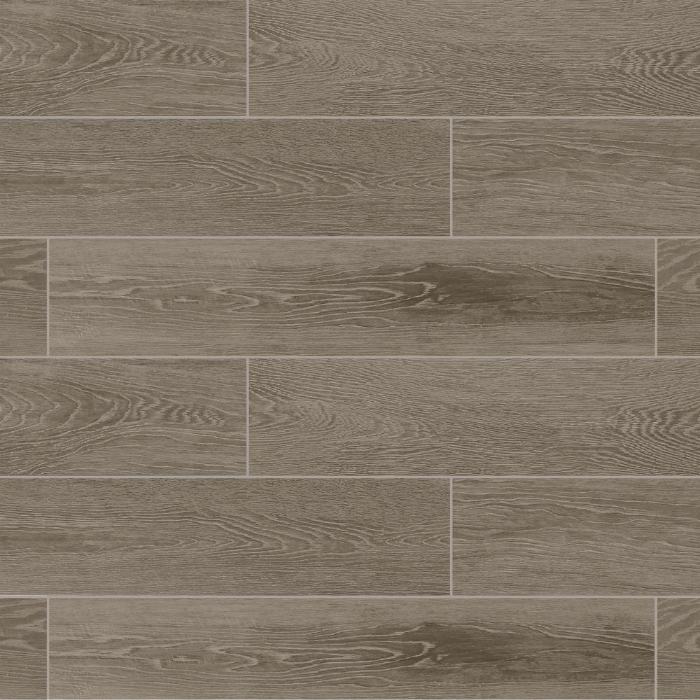 Marazzi Sequoia Forest Evening Gray 8 In X 40 Porcelain Floor And Wall