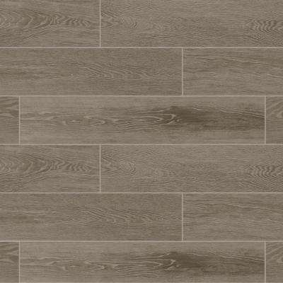 Sequoia Forest Evening Gray 8 in. x 40 in. Porcelain Floor and Wall Tile (10.75 sq. ft. / case)
