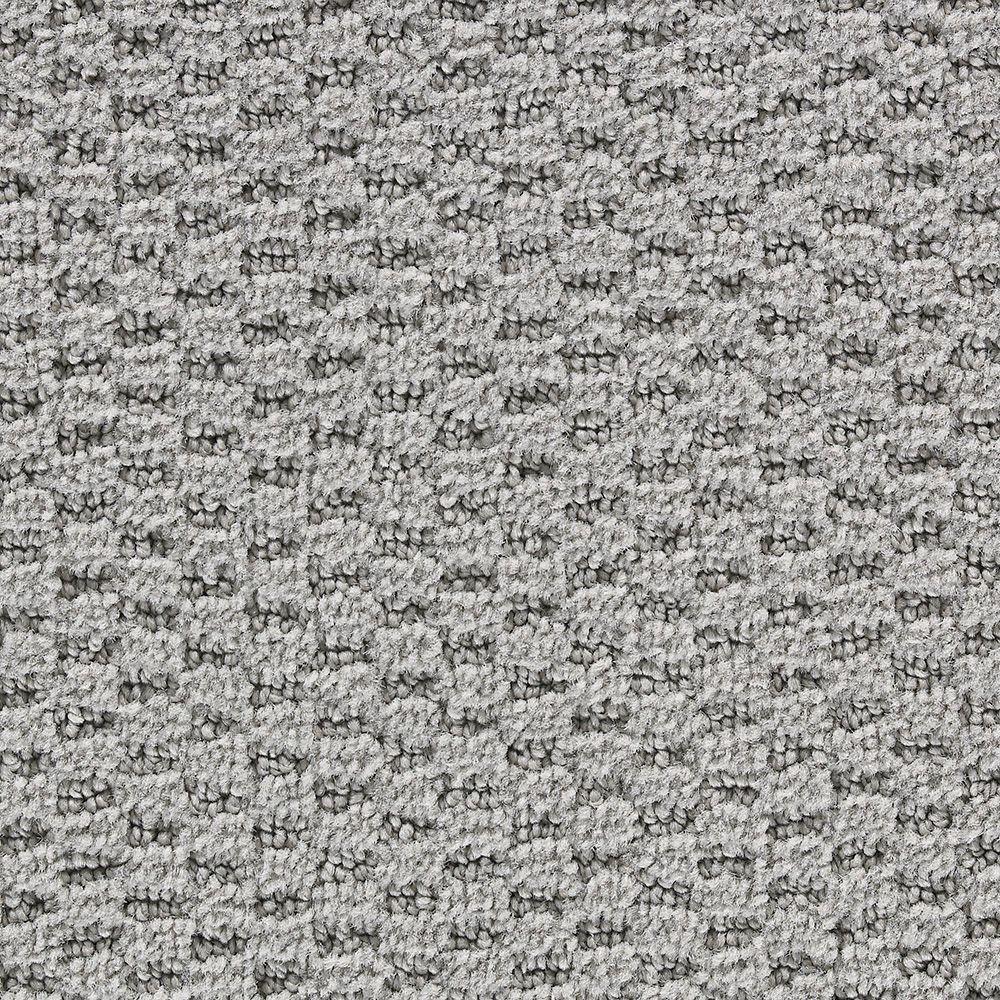Martha Stewart Living Sandringham Driftwood Gray - 6 in. x 9 in. Take Home Carpet Sample