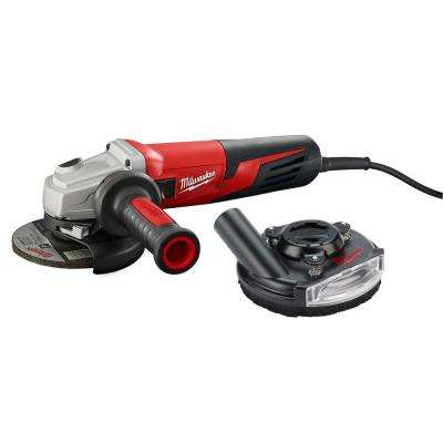 5 in. Small Angle Grinder with Shroud Slide With Lock-On