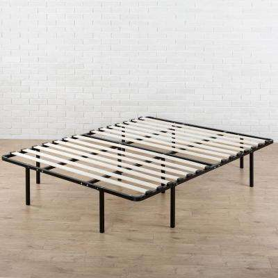 Cynthia 14 inch My Euro Smart Base/Wooden Slats Mattress Foundation, Full