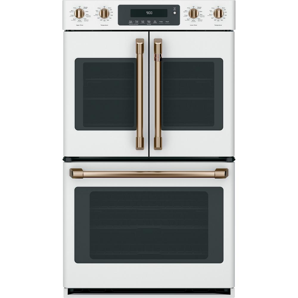 30 in. Double Electric Wall Oven with Convection Steam-Cleaning in Matte