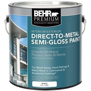 Behr premium 1 gal white semi gloss direct to metal - Exterior paint and primer in one reviews ...