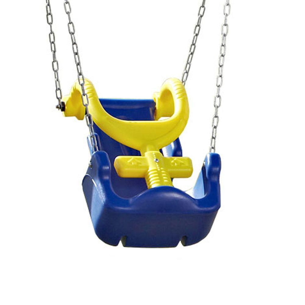 Swing-N-Slide Playsets Adaptive Swing Seat with Chain and Heavy-Duty Hangers
