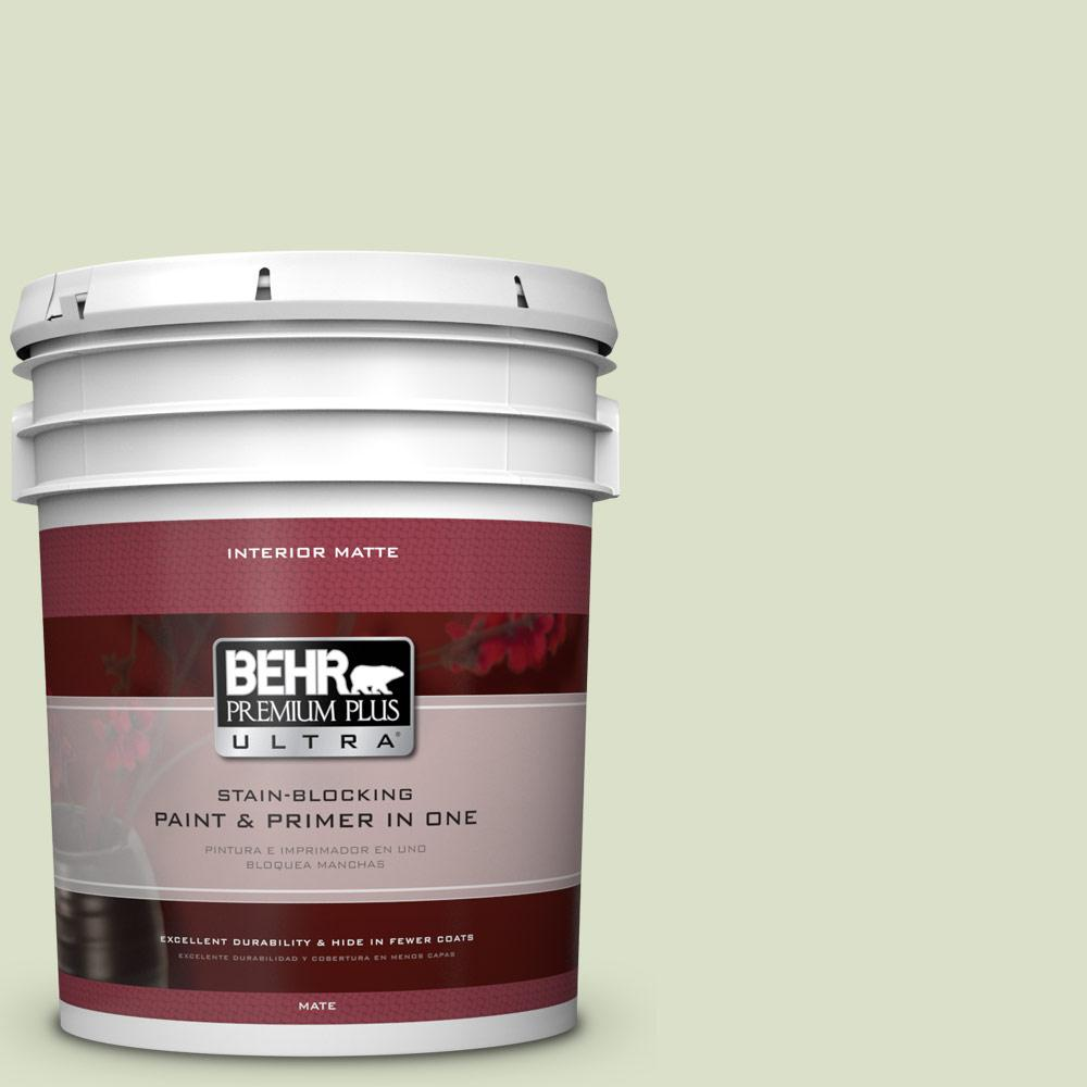 5 gal. #420E-2 Palm Breeze Matte Interior Paint and Primer in