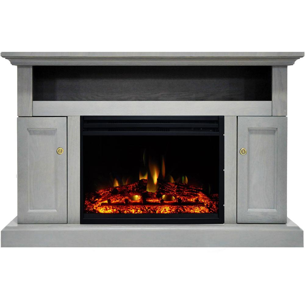 Amazing Cambridge Sorrento 47 In Electric Fireplace Heater Tv Stand In Gray With Enhanced Log Display And Remote Control Download Free Architecture Designs Barepgrimeyleaguecom