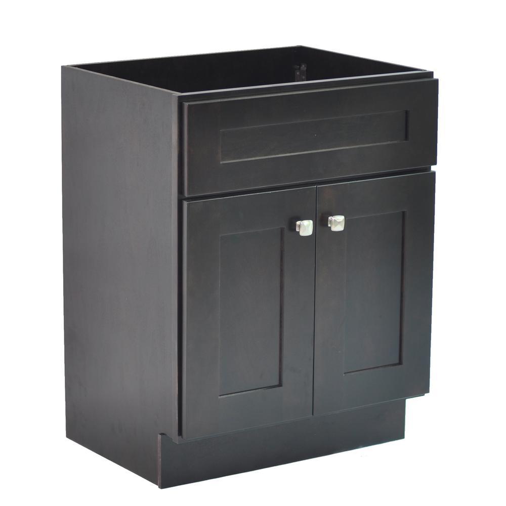 Brookings Plywood RTA 30 in. W x 21 in. D 2-Door Shaker Style Bath Vanity Cabinet Only in Espresso