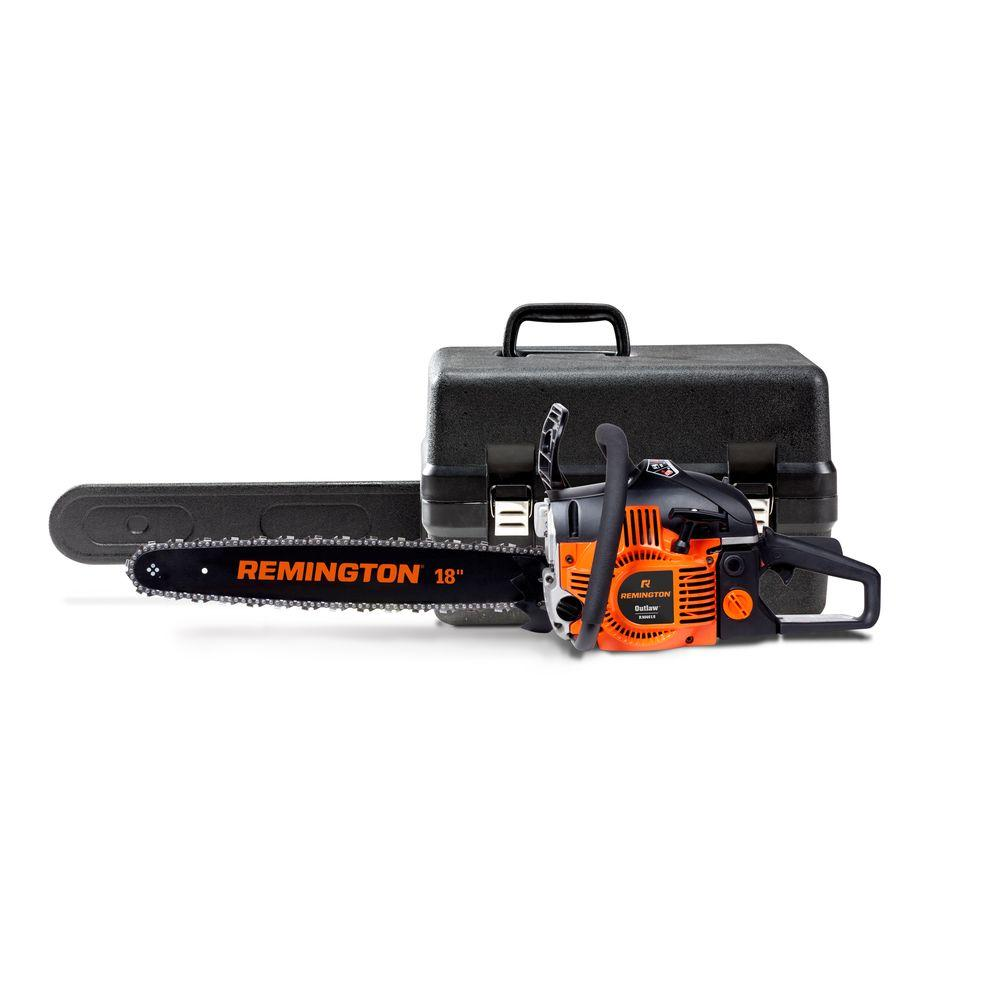 Remington Outlaw 18 in. 46cc Gas 2-Cycle Chainsaw with Heavy-Duty Carry Case and Automatic Chain Oiler